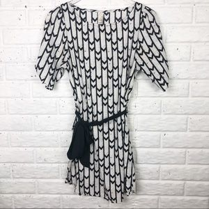 Anthropologie dress with black & white design